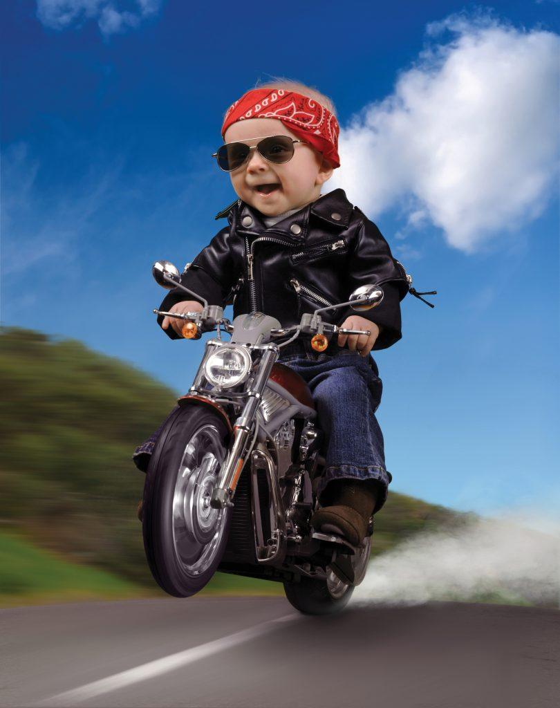 Подросток за рулем мотоцикла