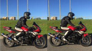 Правильная и неправильная посадка мотоциклиста